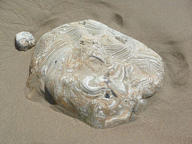 Very interesting rock on the beach