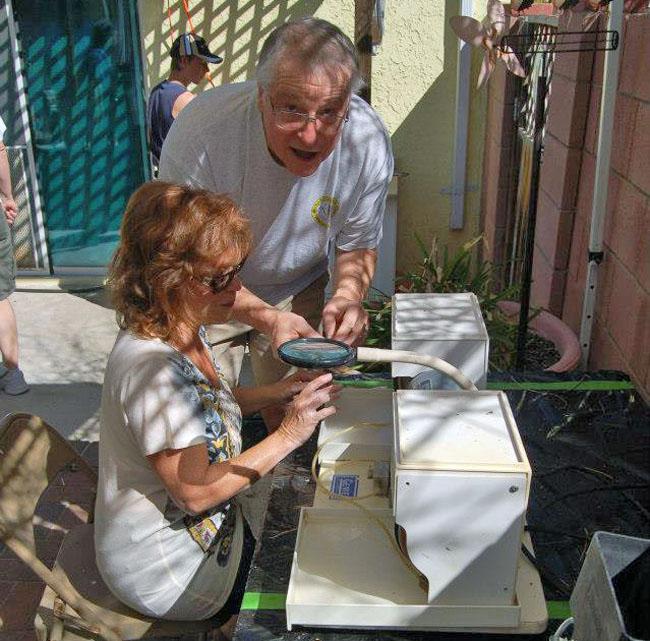 Ralph and Sarita working on the Genie.